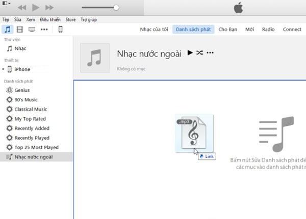 Cách chép nhạc từ máy tính vào iPhone