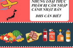 Những loại thực phẩm bị Chính phủ Nhật Bản cấm du học sinh mang theo