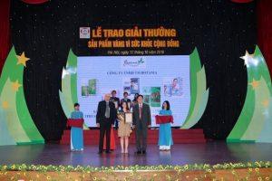 """Công ty Botania lần thứ 4 đạt giải thưởng """"Sản phẩm vàng vì sức khỏe cộng đồng"""""""
