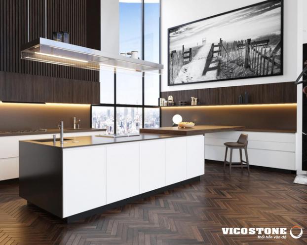 mẫu bàn bếp đá vicostone