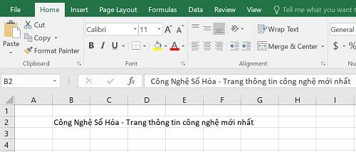 xuống dòng trong Excel